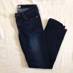 Women's J.Crew Matchstick skinny dark denim jeans